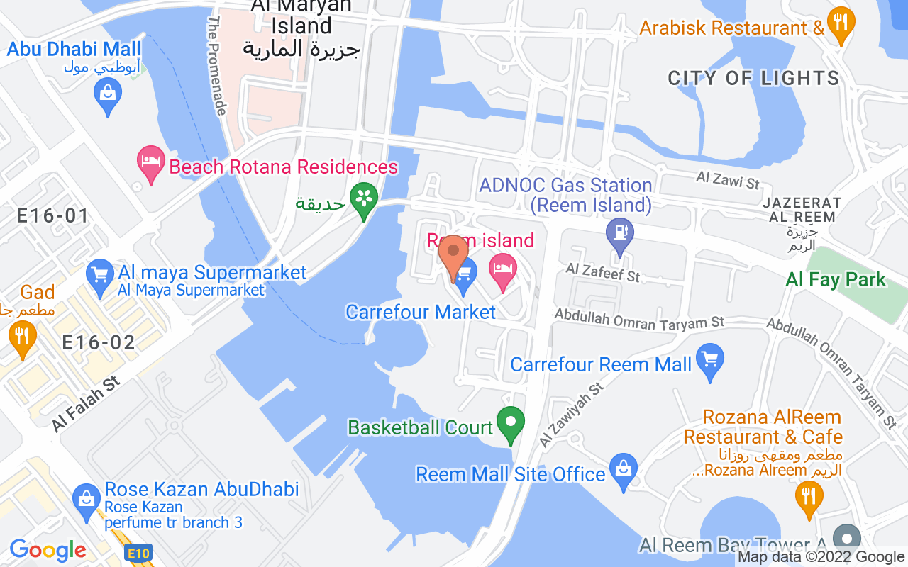 Google Map of 24.4913172,54.3936779000001