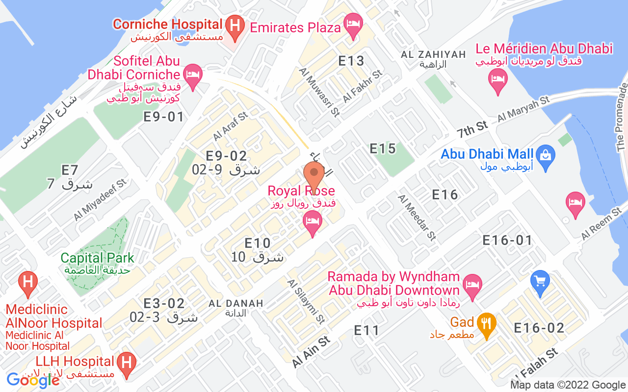Google Map of 24.494974,54.373092