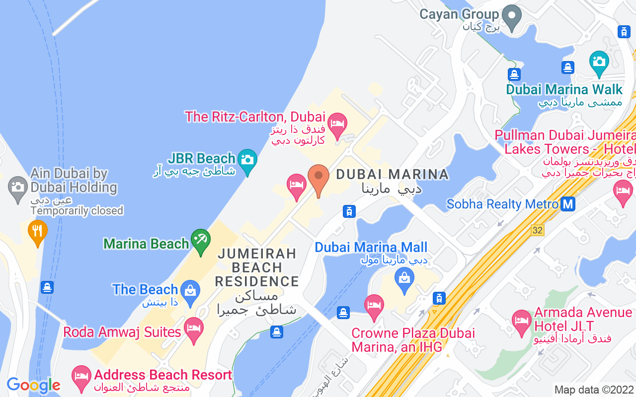Google Map of 25.0801771,55.1367884