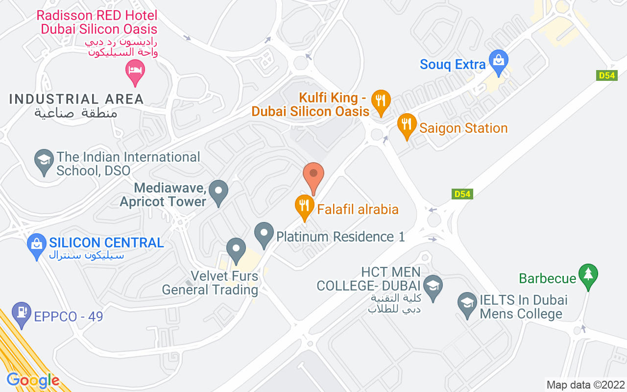 Google Map of 25.1146972644241,55.3876526352761