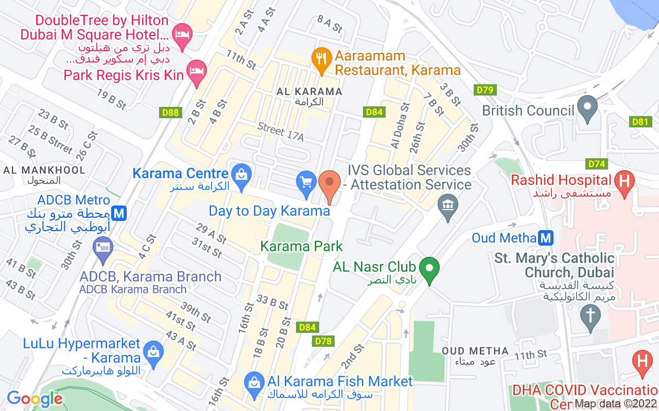 Google Map of 25.2447986252303,55.3068842378617