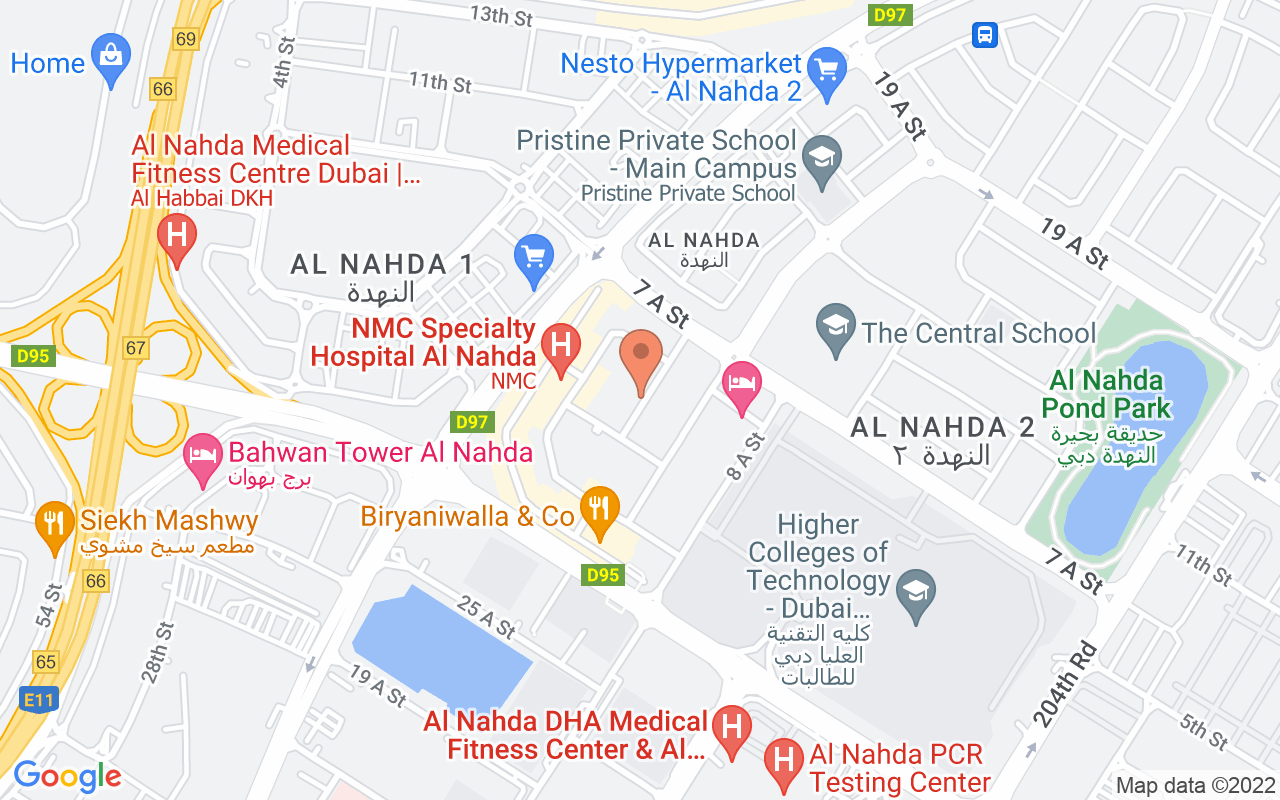 Google Map of 25.2896148,55.3710698
